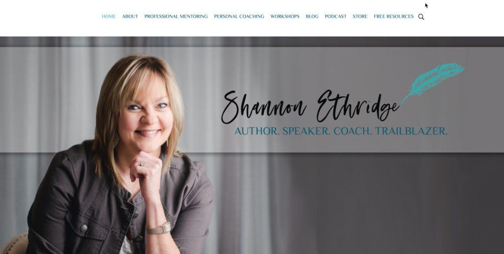 Shannon-Ethridge-Website
