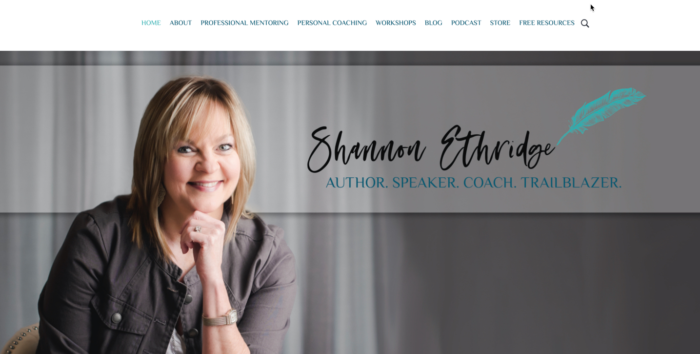 Shannon-Ethridge-Website